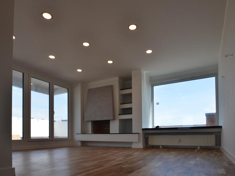 Penthouse Naueim - Wohnzimmer Neu